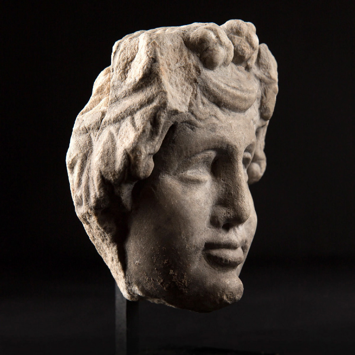 Photo of dionysus-marble-head-rome-antiquities-ancient-art-galerie-golconda-certificatmuseum-quality