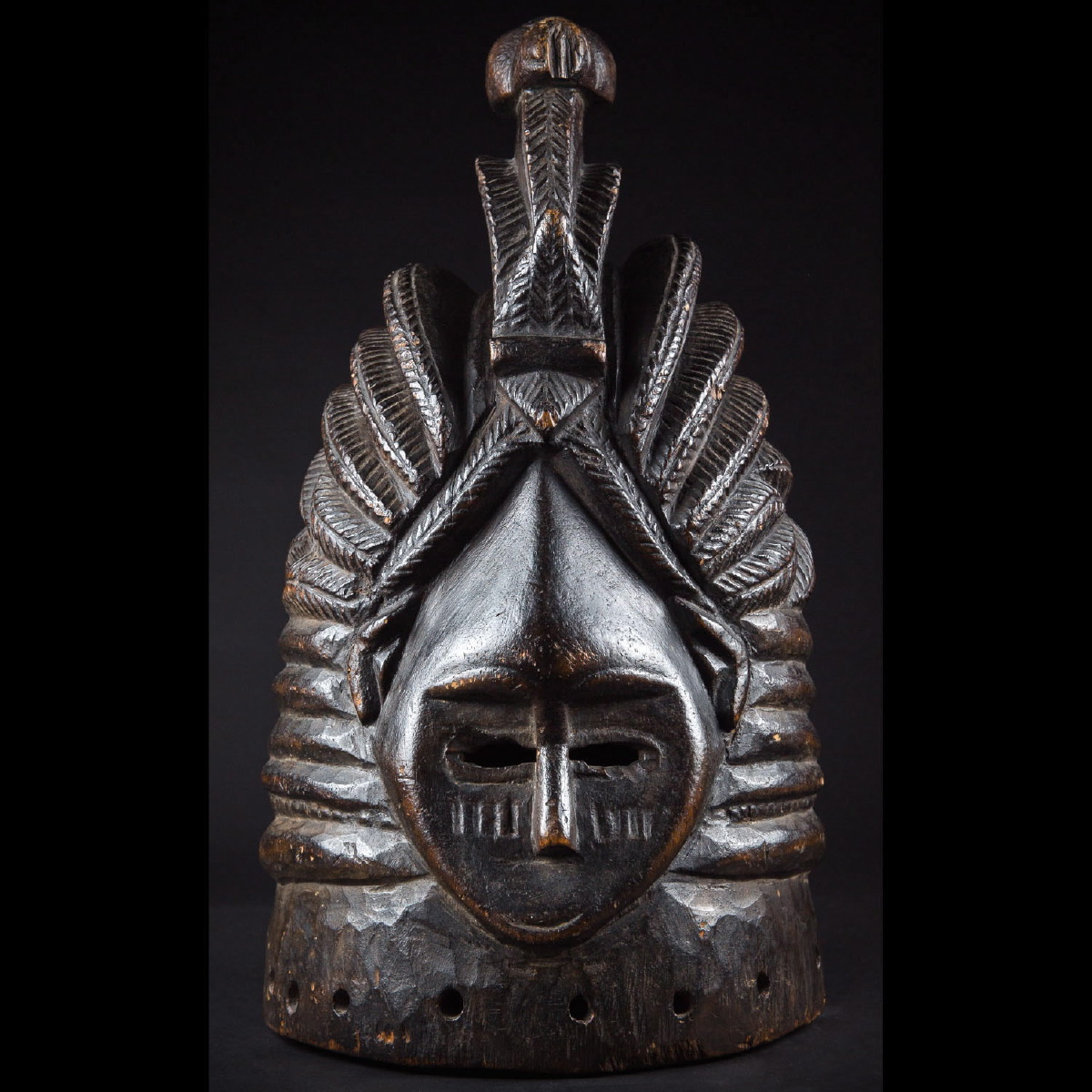 Photo of EXCELLENT SOWEI HELMET MASK FROM SIERRA LEONE