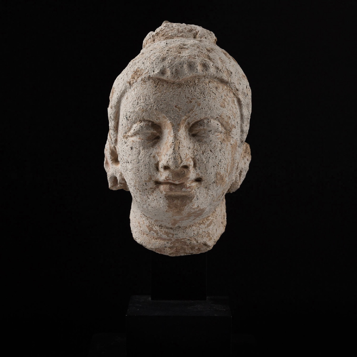 Photo of a-stucco-head-of-bodhisattva-gandhara-3rd-4th-century