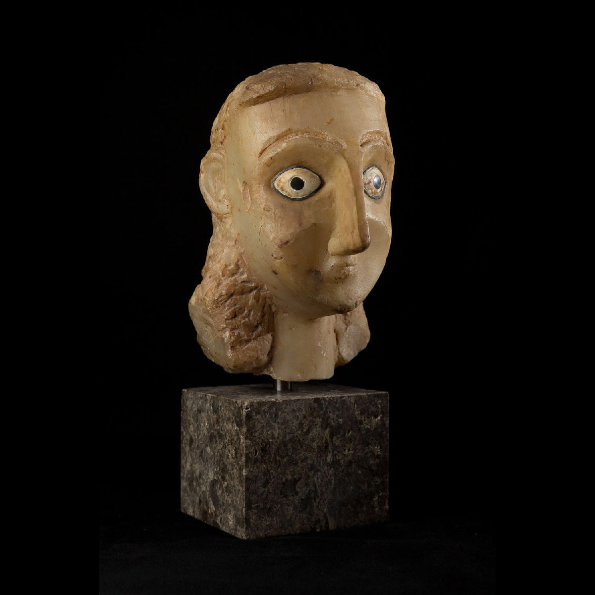 Photo ofALABASTER HEAD FROM SABA KINGDOM