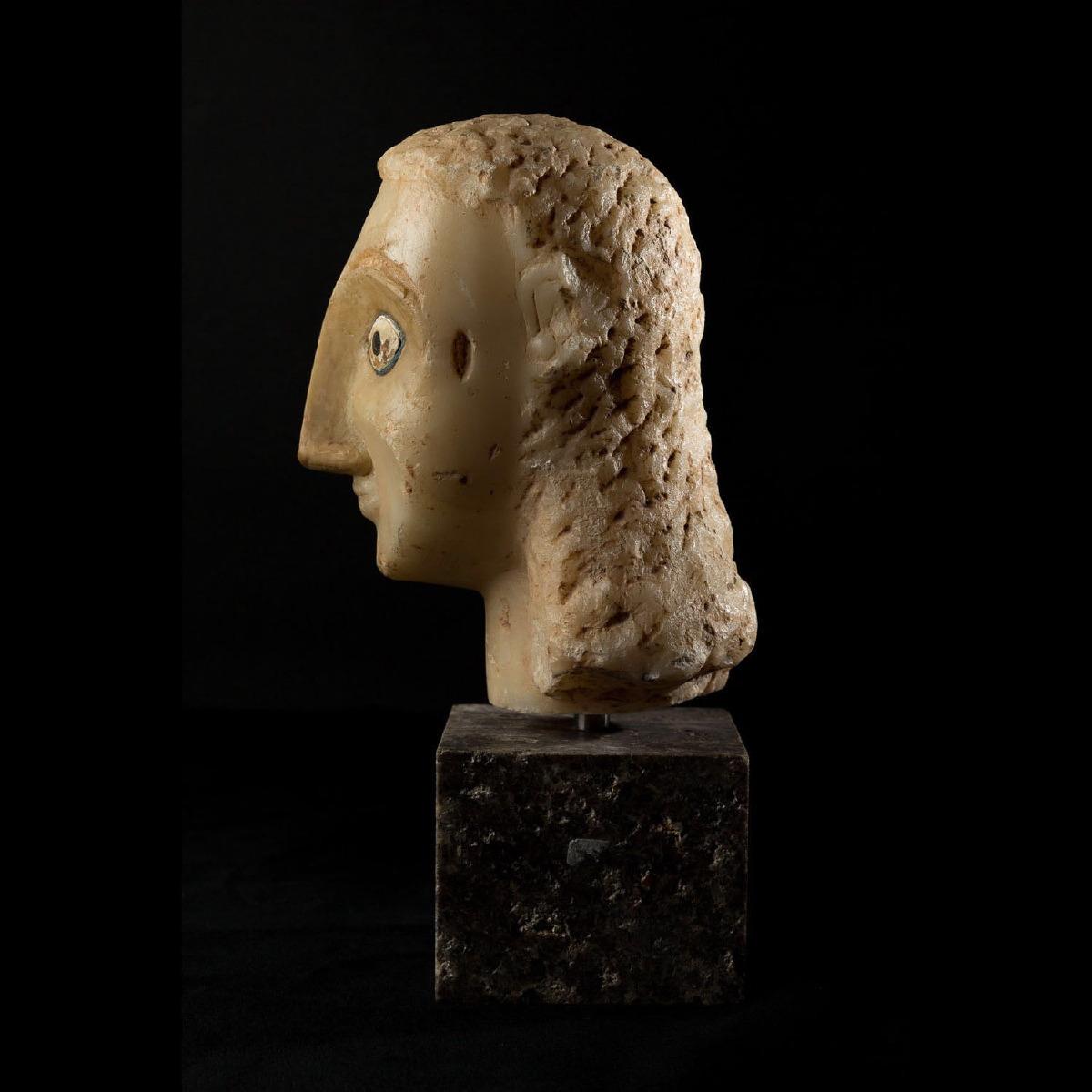 Photo of saba-kingdom-alabaster-head-arabia-felix-galerie-golconda