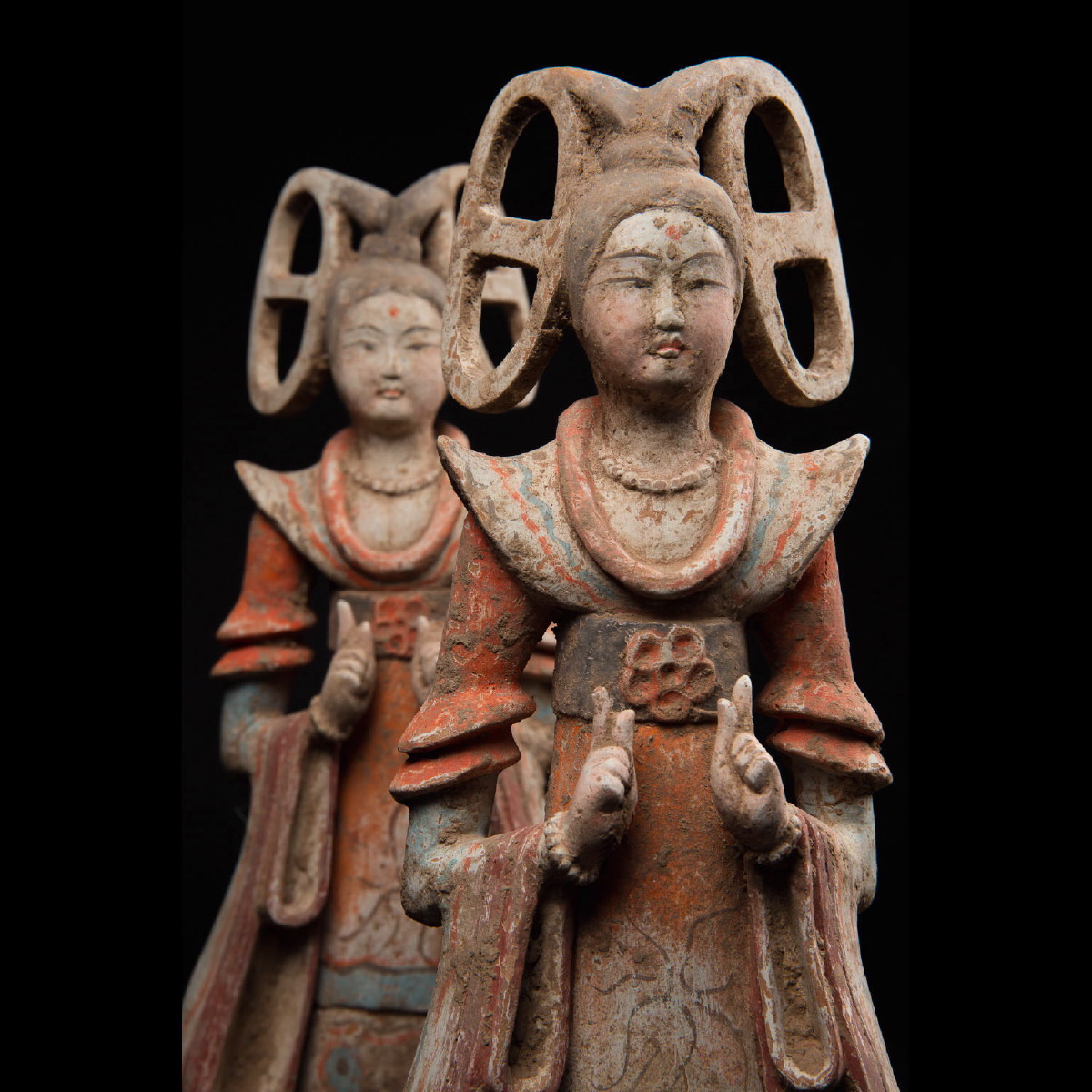 Photo of OUTSTANDING PAIR OF TANG FAIRY DANCERS