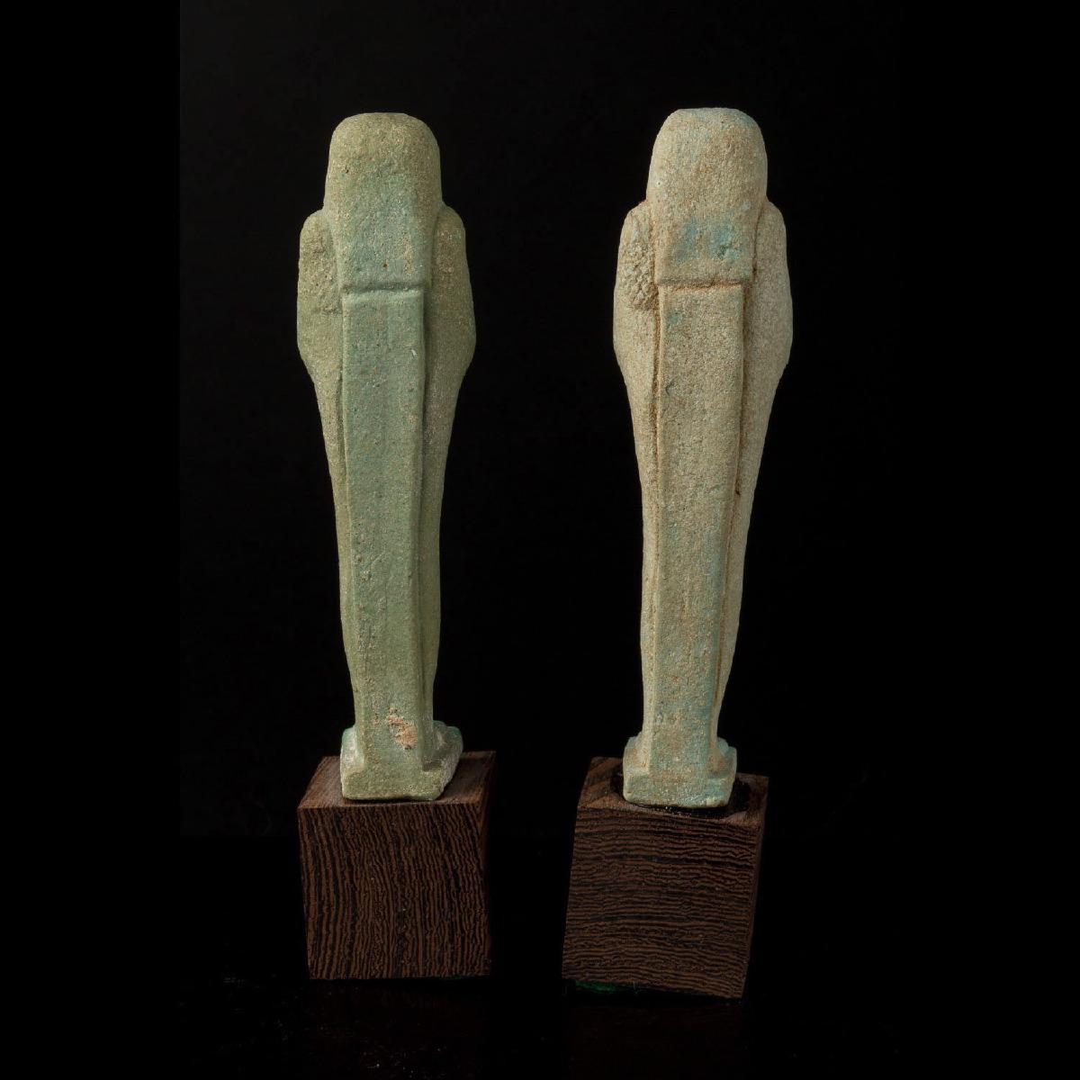 Photo of a-pair-of-ushebti-saite-period-inscribed-hieroglyphs