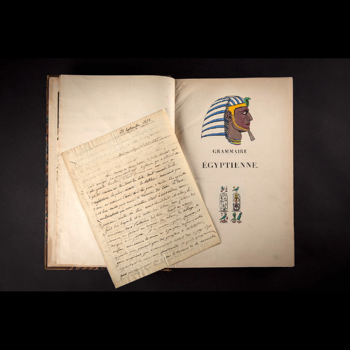 Photo of champollion-egyptian-grammar-original-edition-letters-galerie-golconda