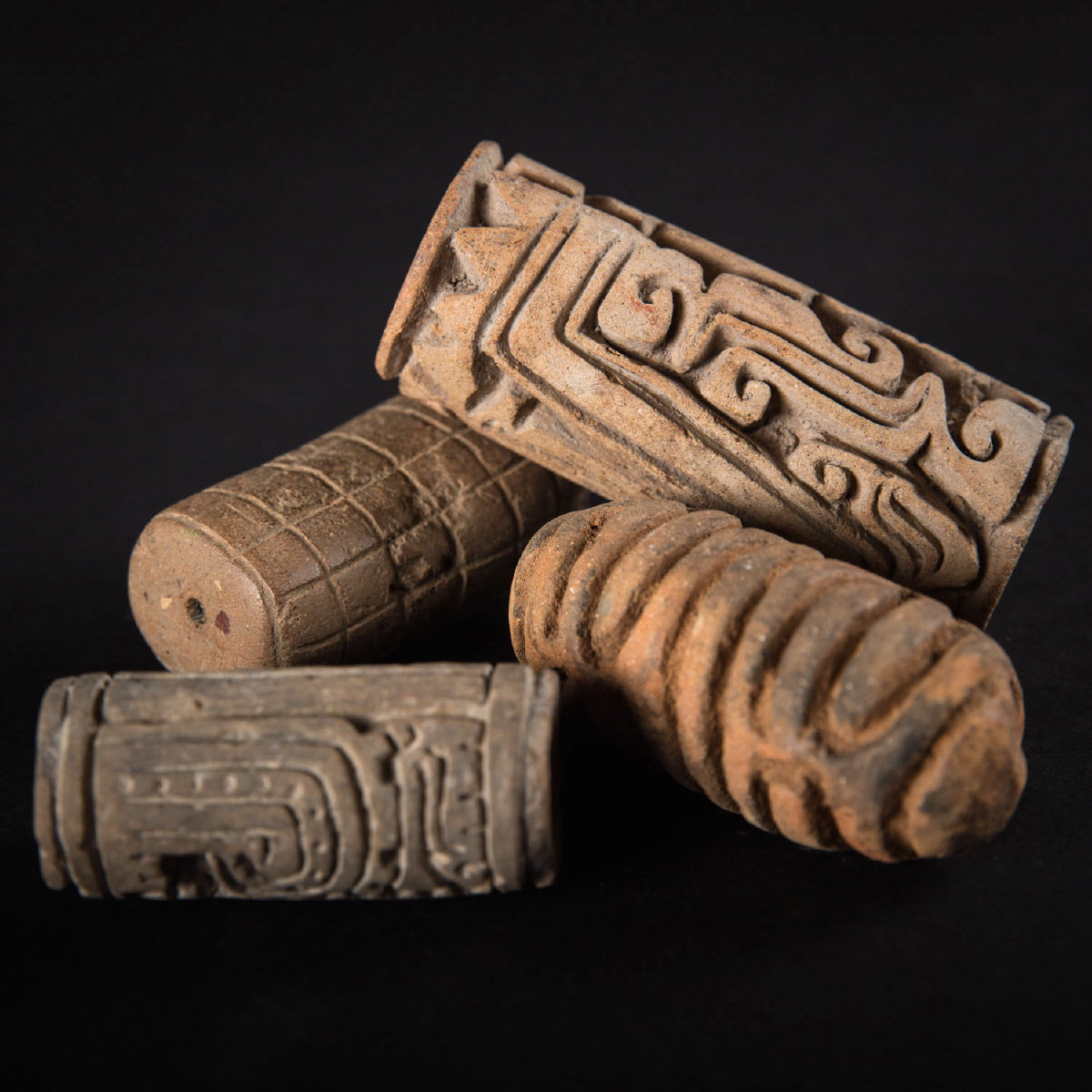 Photo of ancient-art-precolombian-roller-seals-tumaco-colombia