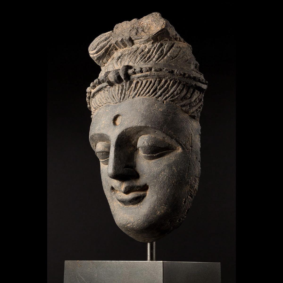 Photo of GRECO-BUDDHIST HEAD OF A BODHISATTVA