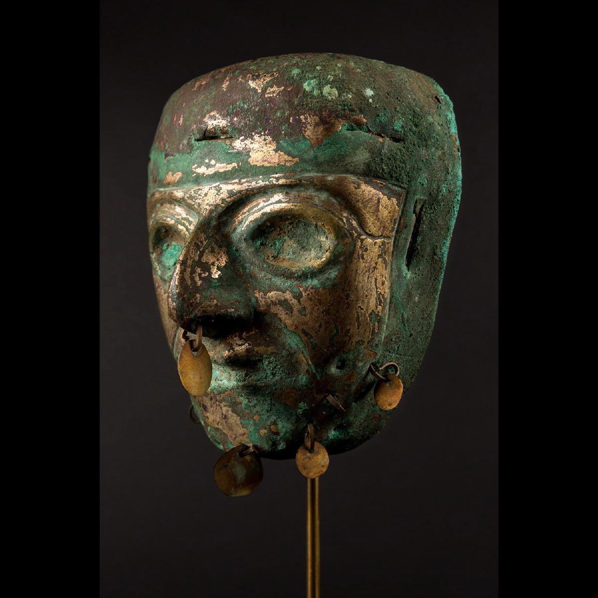 Photo of golden-copper-mask-religious-peru-mochica