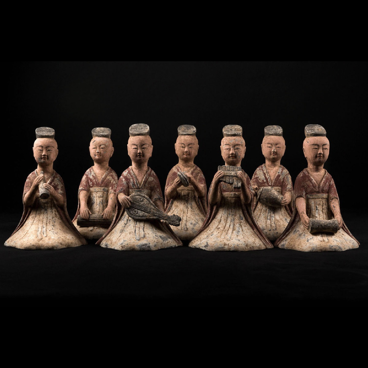 Photo of orchestra-female-musicians-tang-china-terracota-galerie-golconda