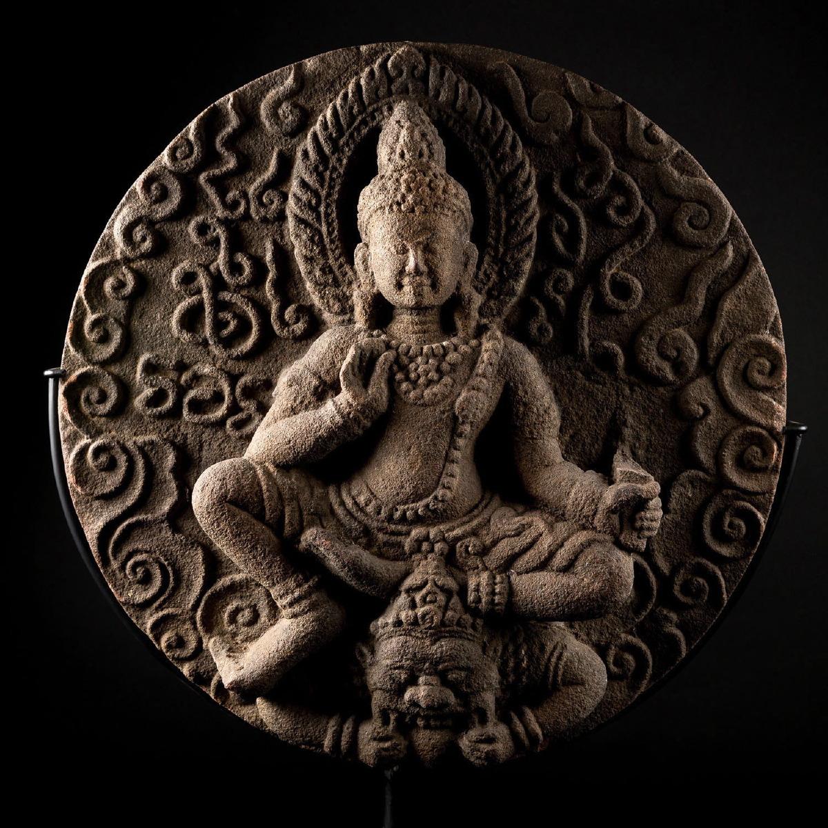 Photo of tympanum-circular-kala-lokesvara-birma-sandstone-galerie-golconda