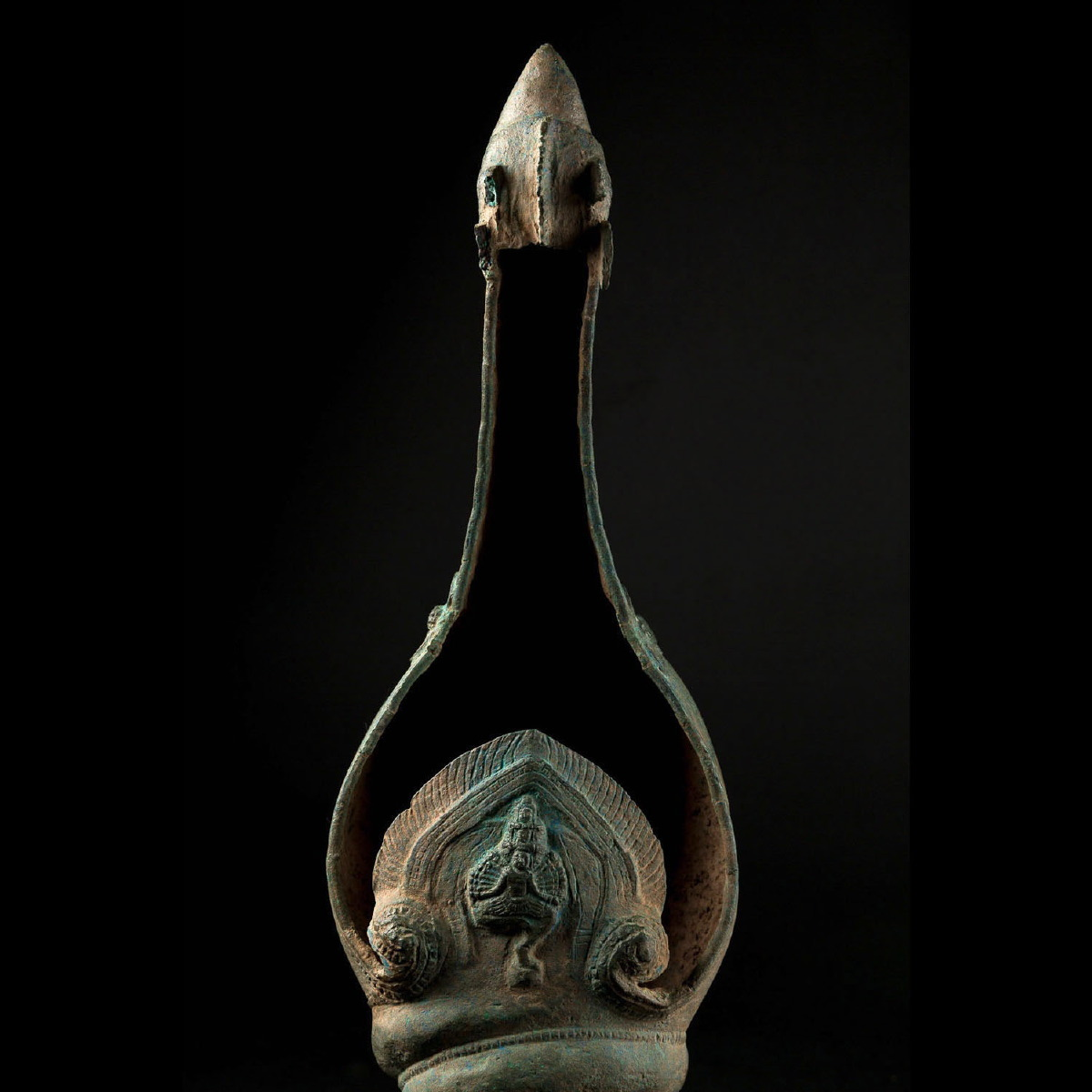 Photo of ritual-conch-bronze-khmer-cambodia-galerie-golconda
