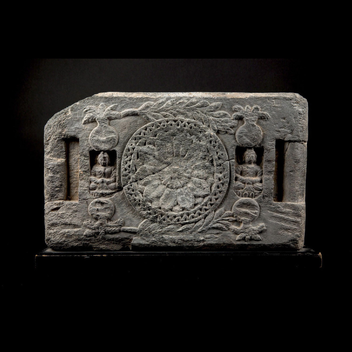 Photo ofLOW RELIEF GRECO BUDDHIST WITH DHARMA WHEEL