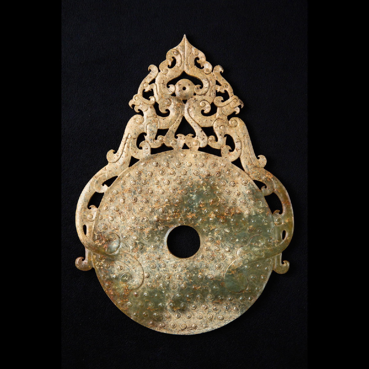 Photo of bi-disc-jade-nephrite-han-chinese-galerie-golconda