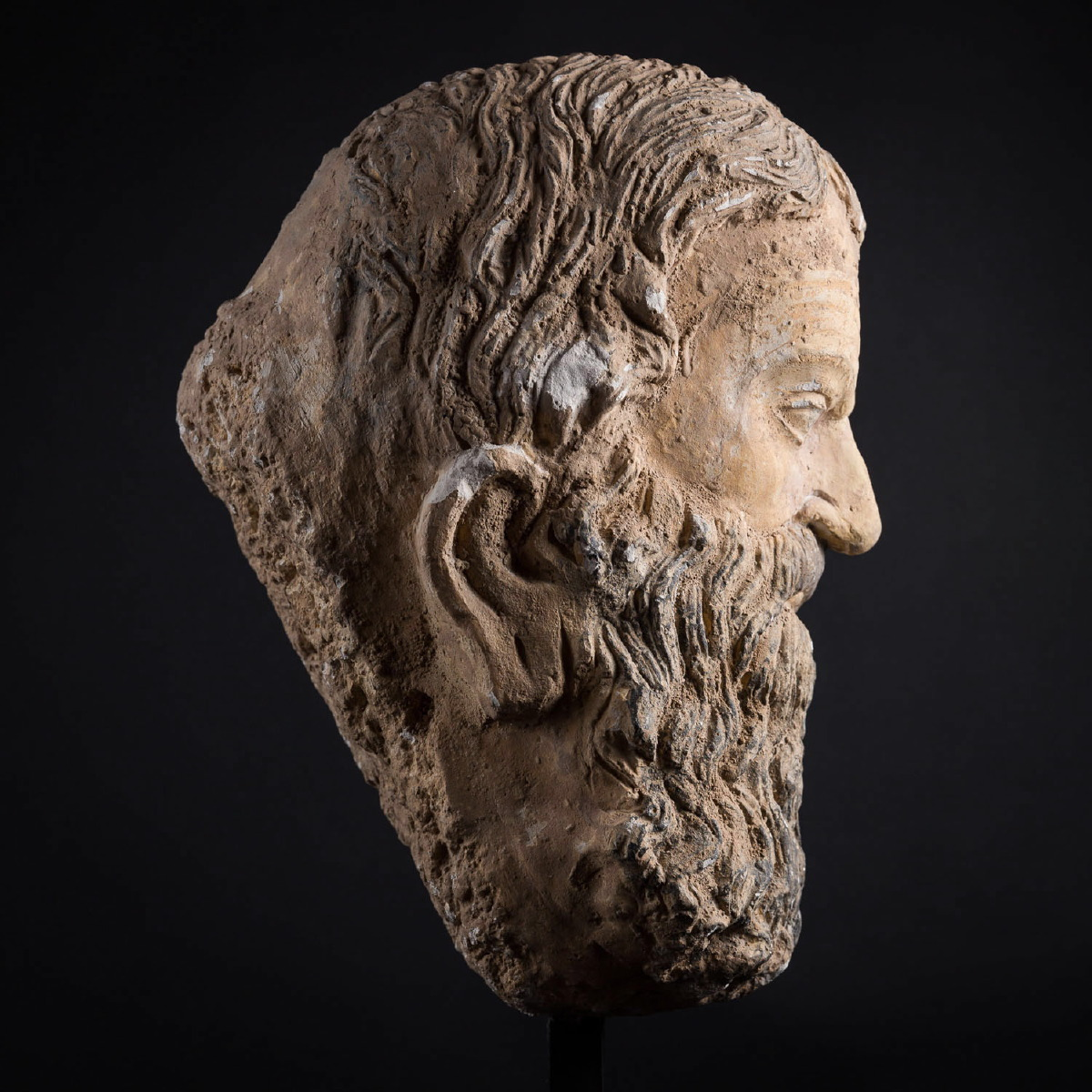 Photo of head-of-a-greek-man-handsome-stuc-galerie-golconda-museum-quality