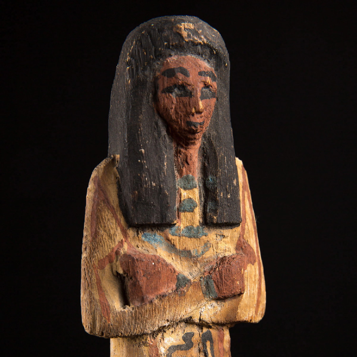 Photo of wooden-shabti-egypt-statuette-empire-ousbek-djed-coultard-seymour-collection