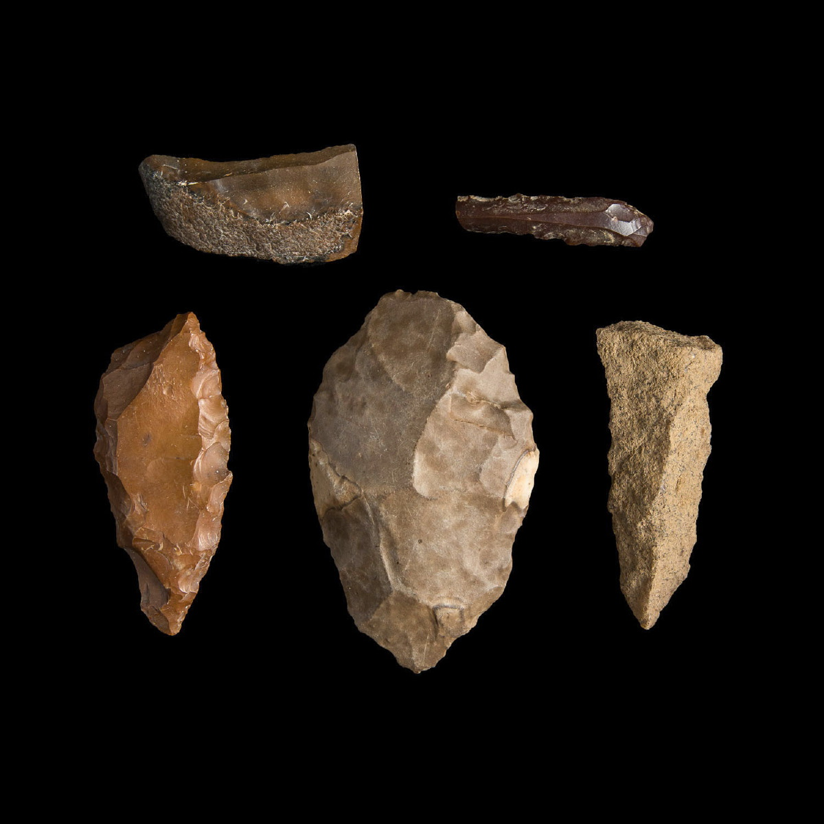 Photo ofGROUP OF EGYPTIAN PREDYNASTIC STONE AGE TOOLS