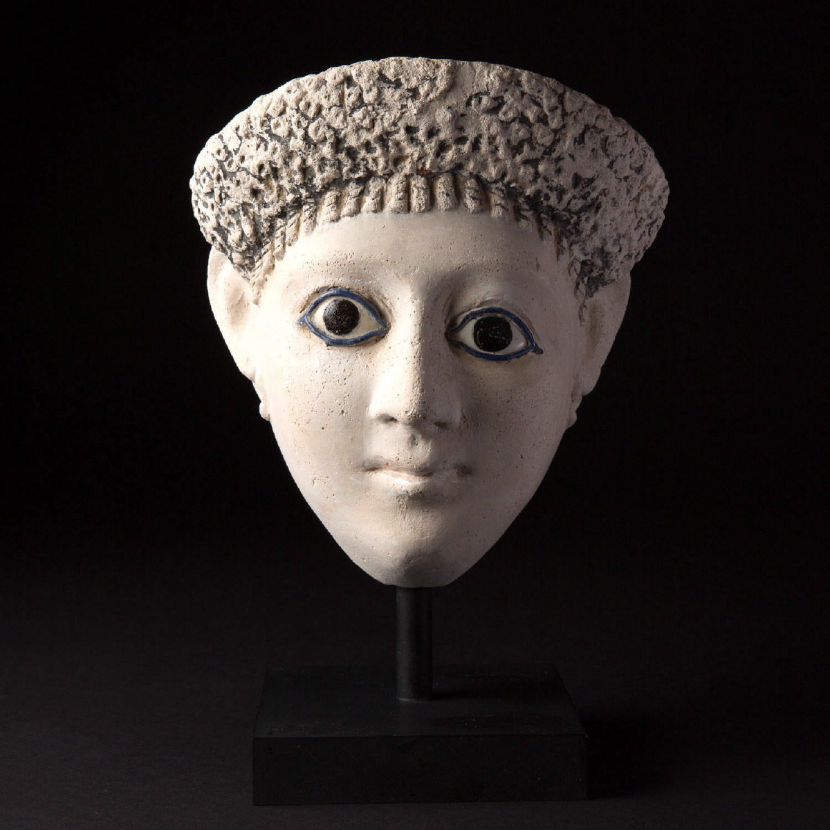 Photo of MASK IN STUCCO OF A WOMAN FROM ROMAN EGYPT