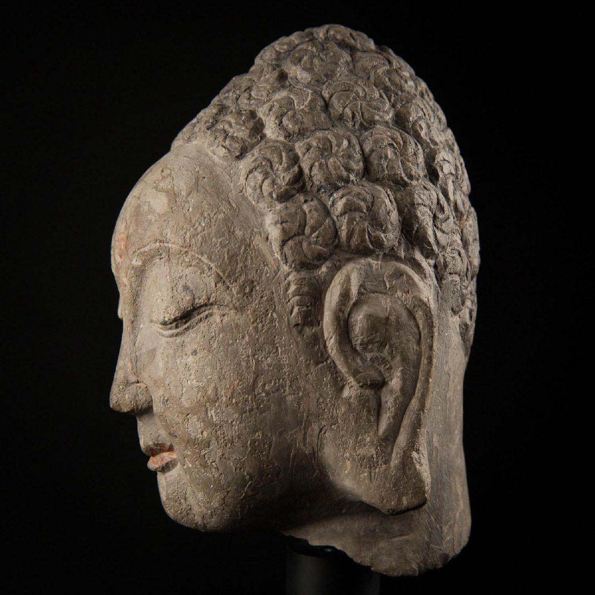 Photo of SUI DYNASTY STONE HEAD OF BUDDHA