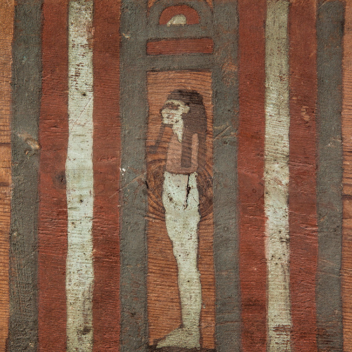 Photo of wooden-panel-of-an-inner-coffin-old-egypt