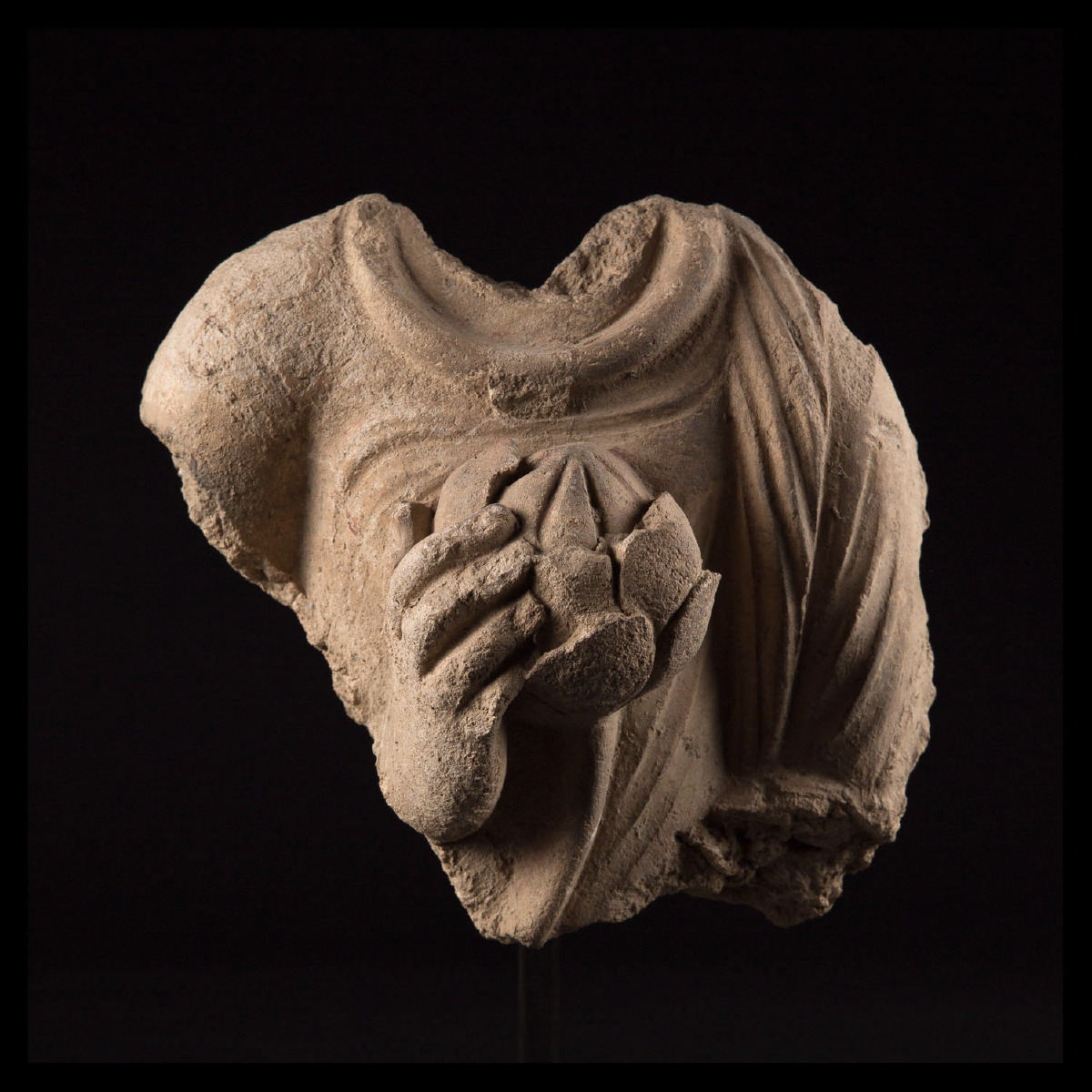 Photo of gandhara-bouddha-lotus-flower-stucco-greco-buddhist-art-galerie-golconda-greco-buddhist-afganistan