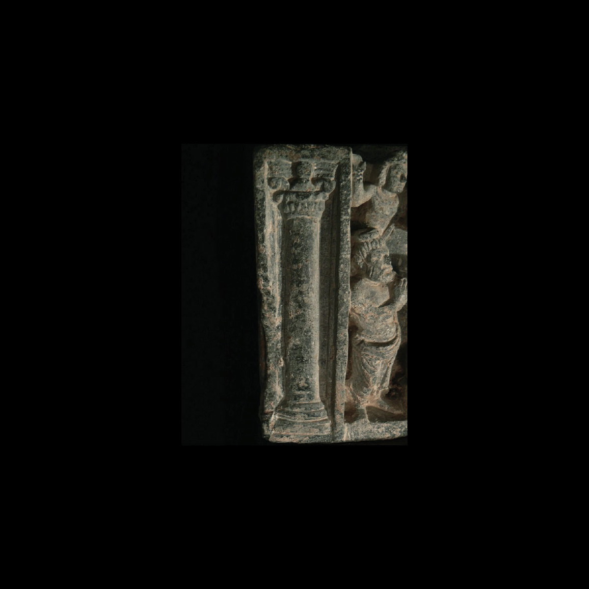 Photo of FRIEZE OF BUDDHA IN A RARE GREEN SCHIST