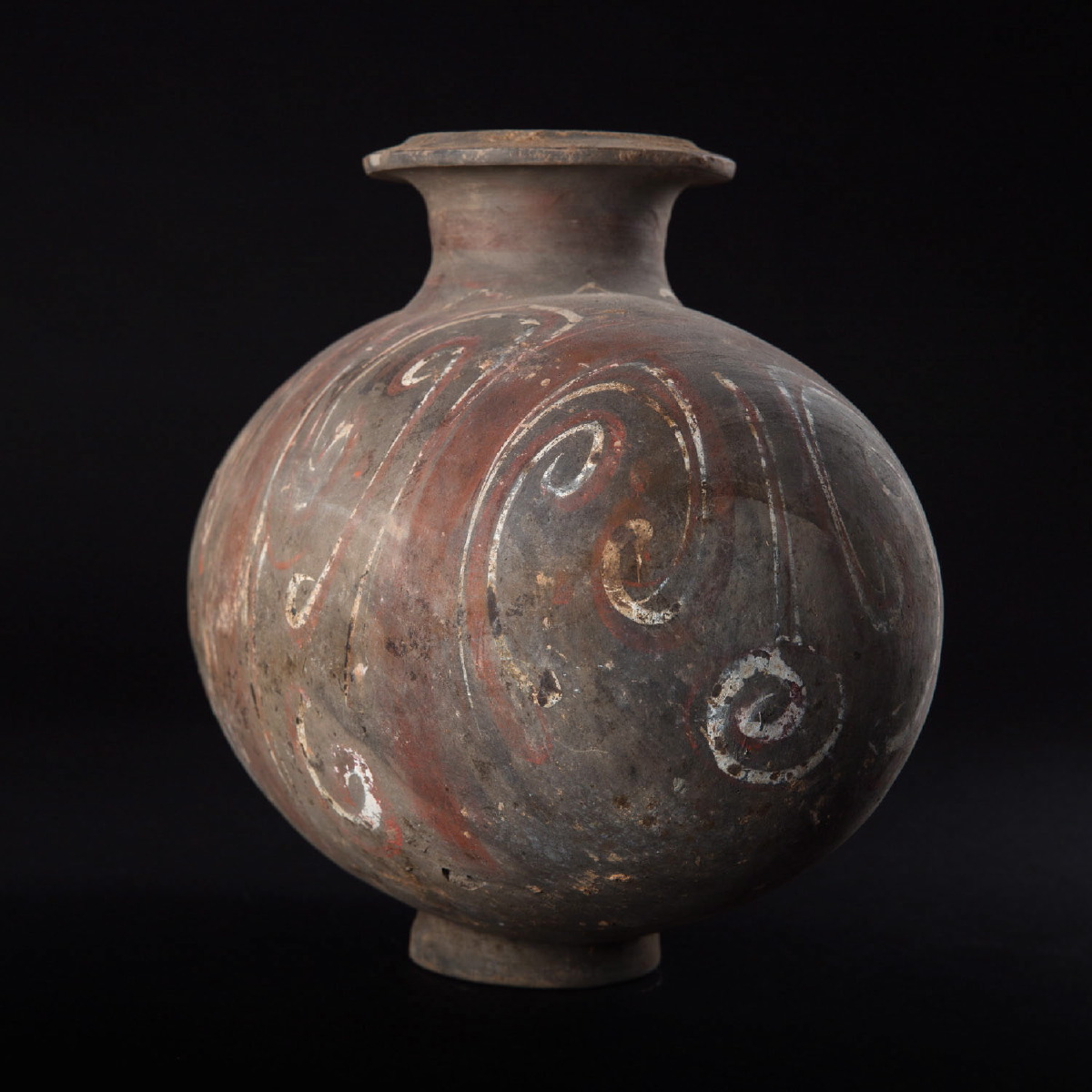 Photo of PAINTED POTTERY COCOON JAR HAN DYNASTY