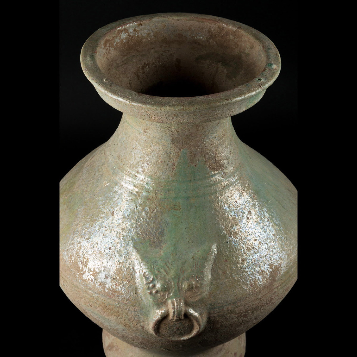 Photo of LARGE GLAZED HAN VASE WITH TAOTIE
