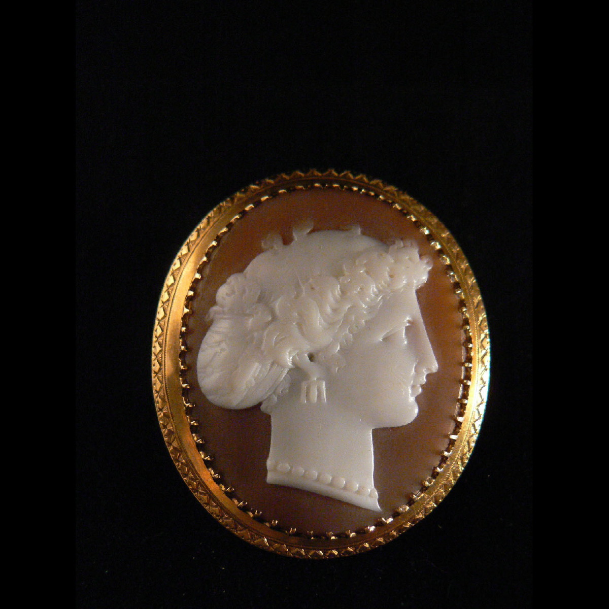 Photo ofANCIENT BROOCH WITH FEMALE CAMEO