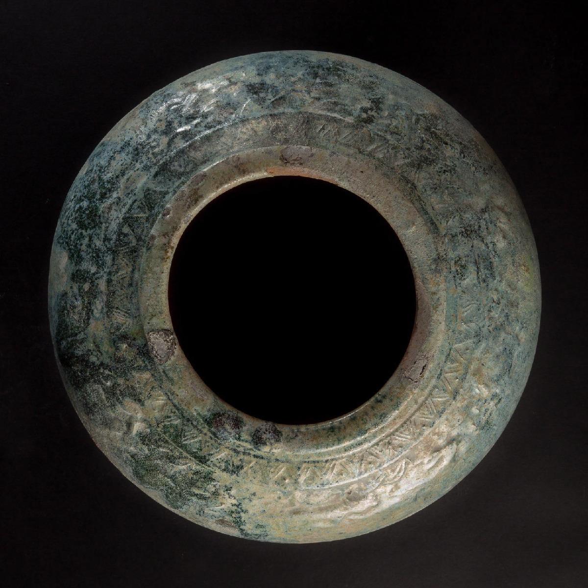 Photo of vase-ceramic-glazed-green-colour-dynasty-han-china