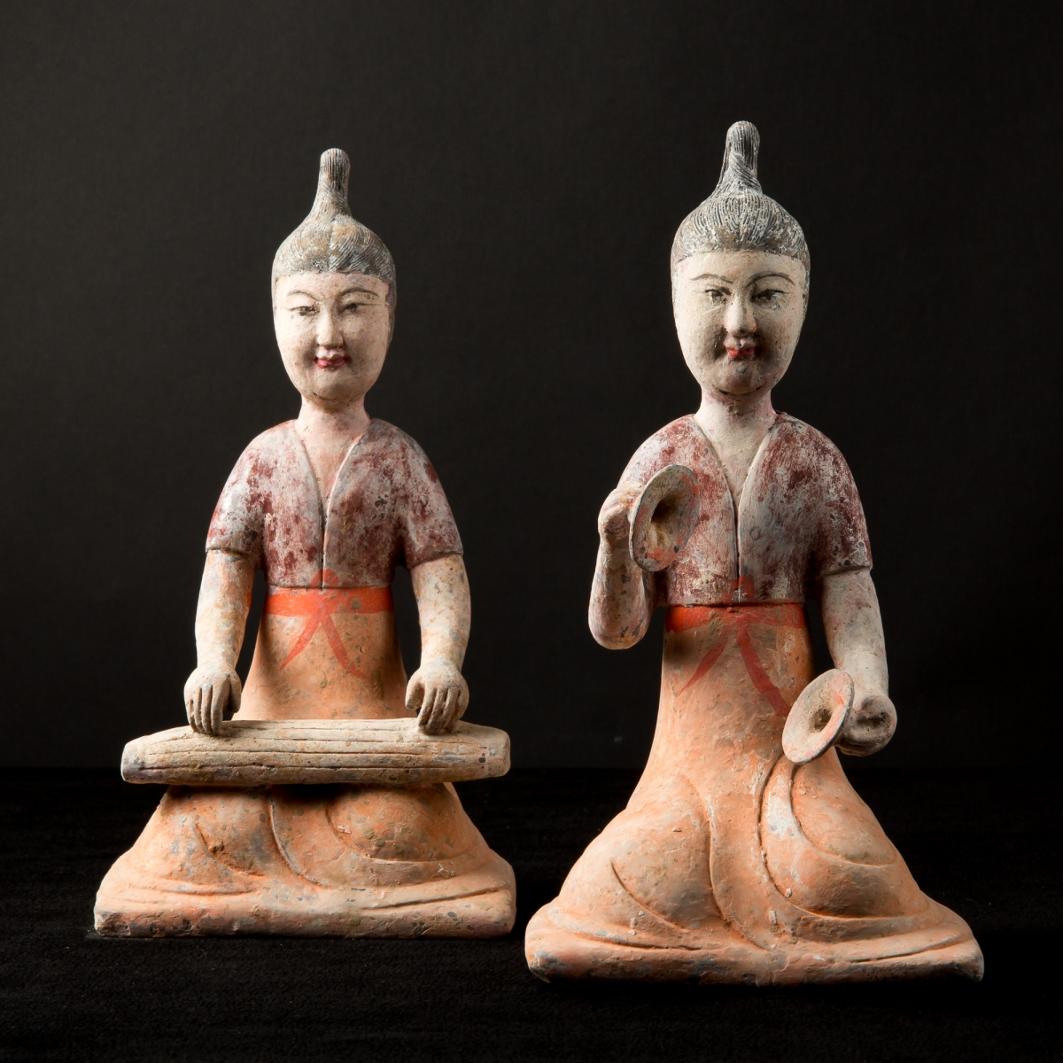 Photo of pair-of-musicians-tang-museum-quality-galerie-golconda-archeology