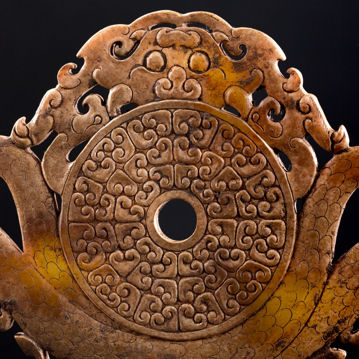 Photo of bi-disk-in-jade-han-arts-ancients-chine-ancienne-gallery-golconda