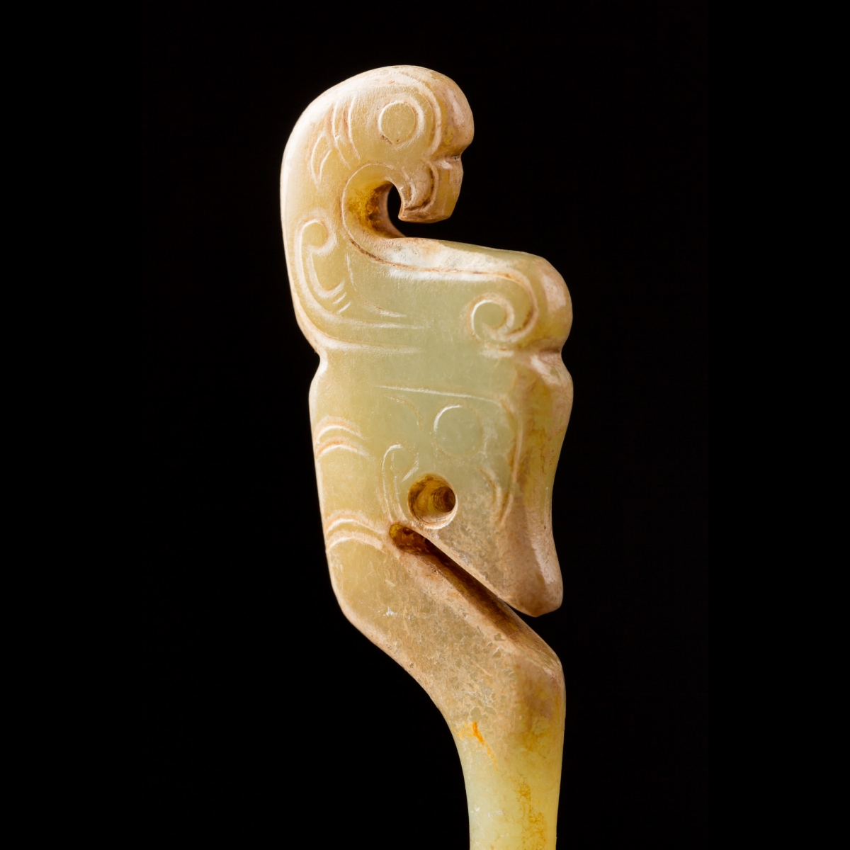 Photo of jade-hairpin-china-archaic-dynasties-dragon-and-phoenix-galerie-golconda