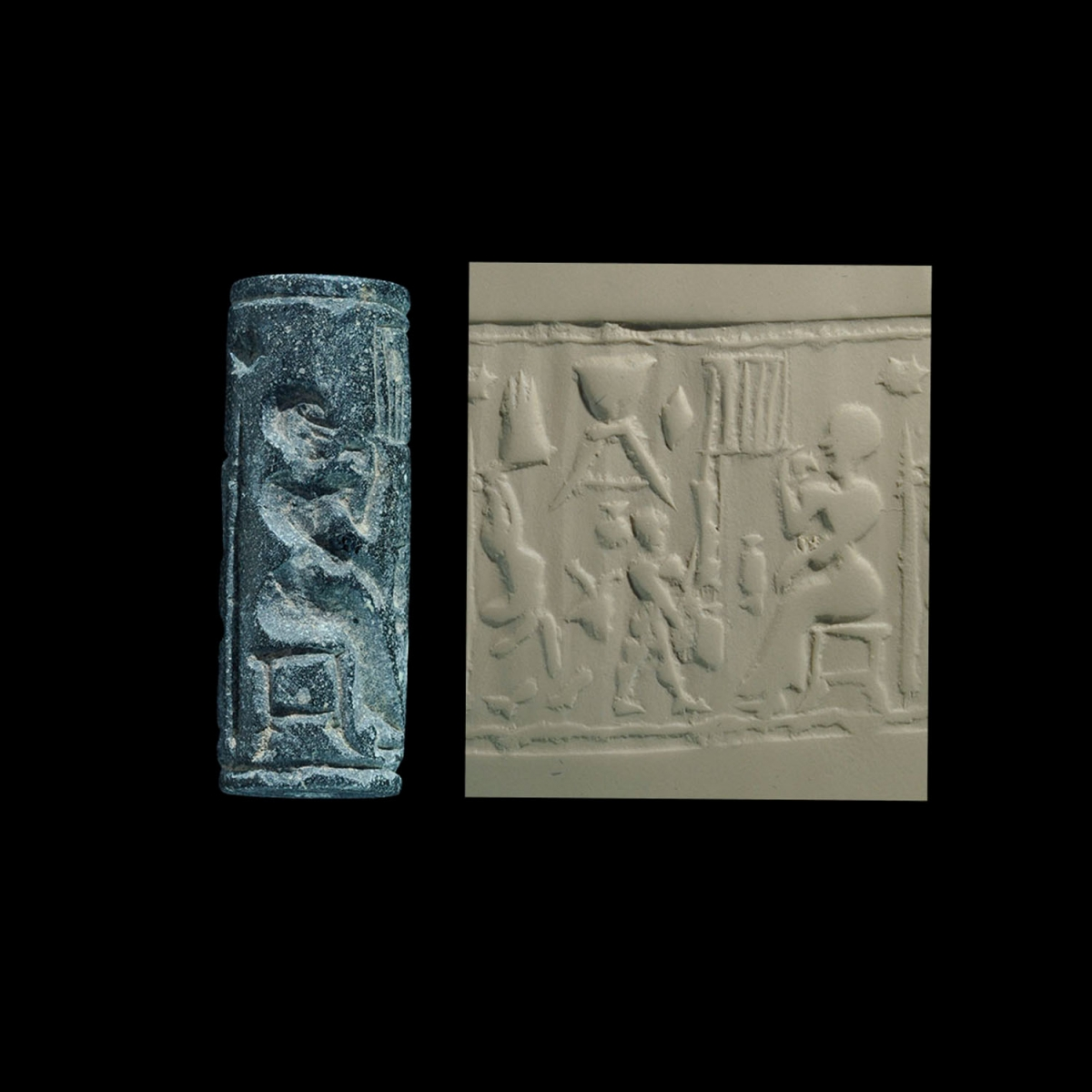 Photo ofCYLINDER SEAL: PREPARATION FOR A BANQUET