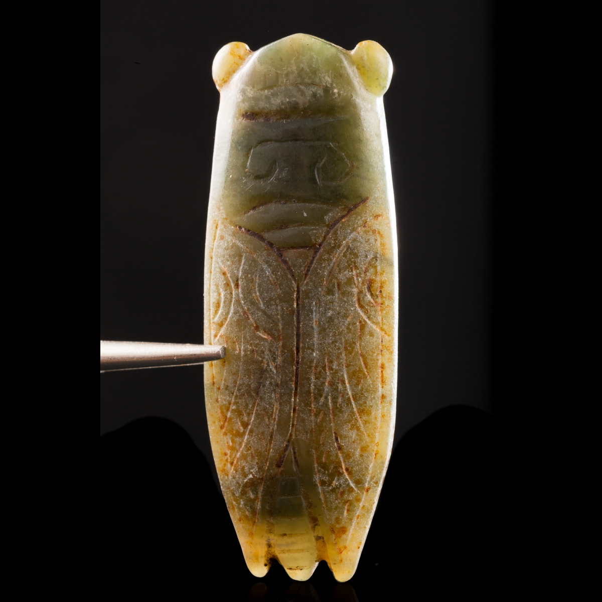 Photo of cicada-in-jade-china-zhou-han-dynasty-galerie-golconda-specialist-in-ancient-jades-museum-quality