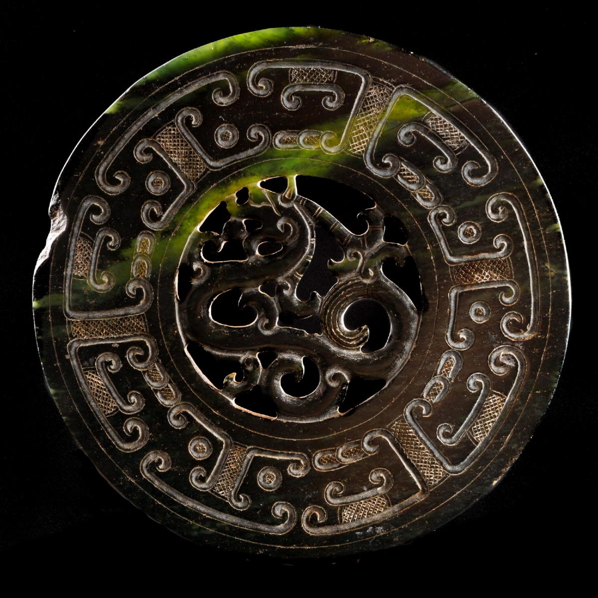 Photo of bi-disc-jade-nephrite-chinese-galerie-golconda-specialist-archeology-museum-quality