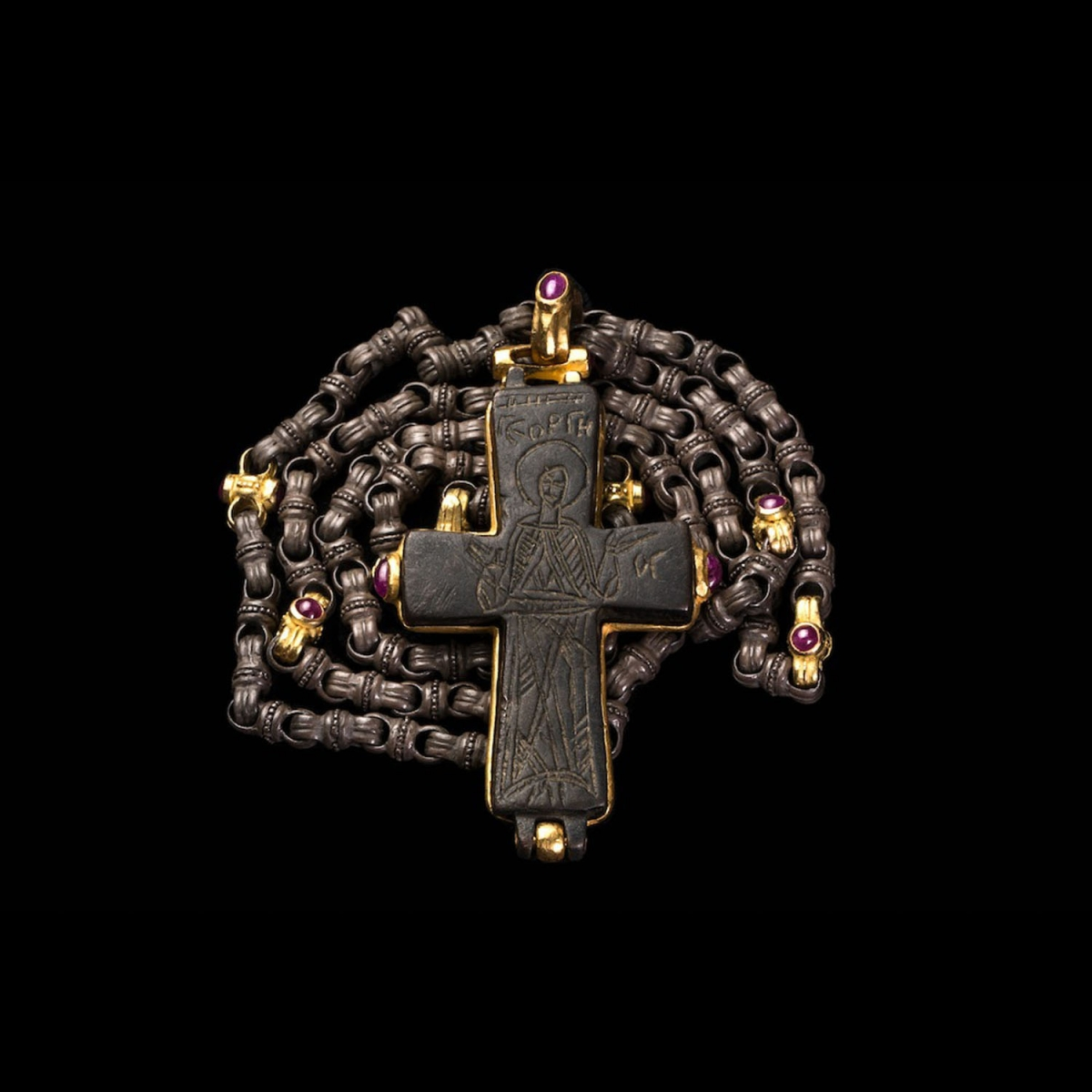 Photo of roman-coptic-reliquary-cross-with-rubies