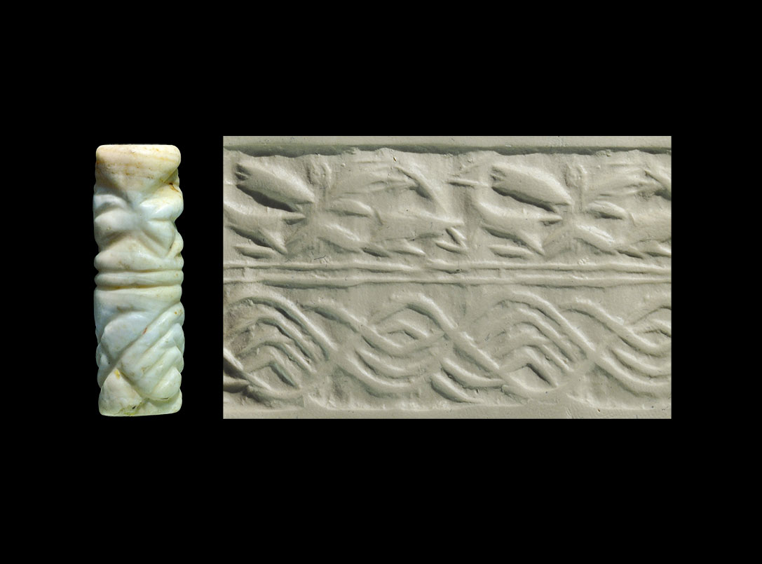 Photo ofCYLINDER SEAL REPRESENTING AN ANIMAL