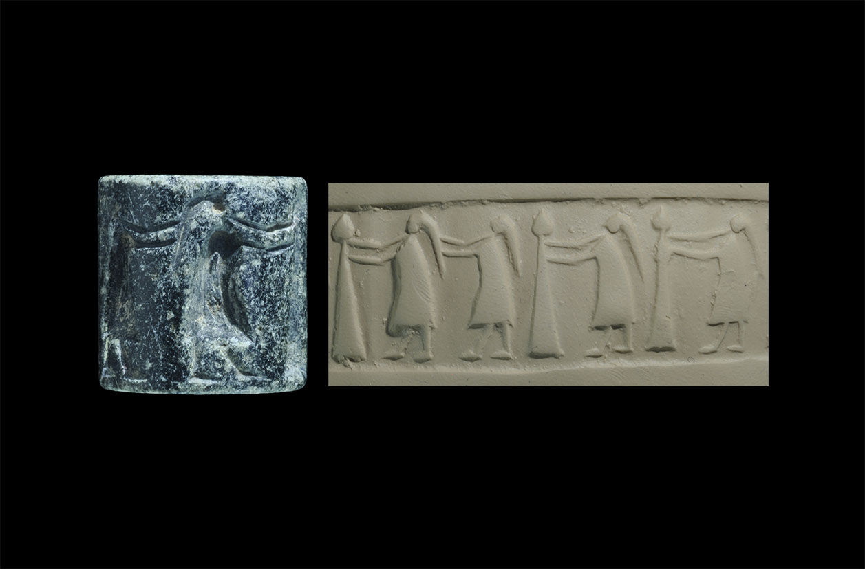 Photo ofCYLINDER SEAL REPRESENTING A GROUP OF WOMEN