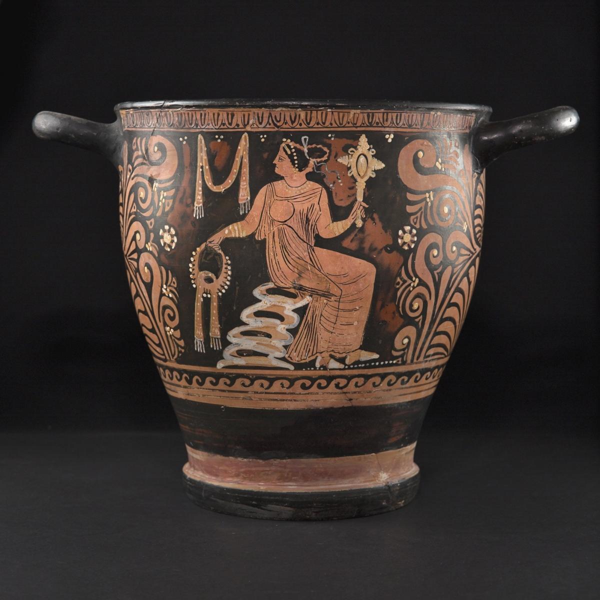 Photo of skyphos-red-on-black-painted-apulia-iv-th-b-c-galerie-golconda-museum-quality