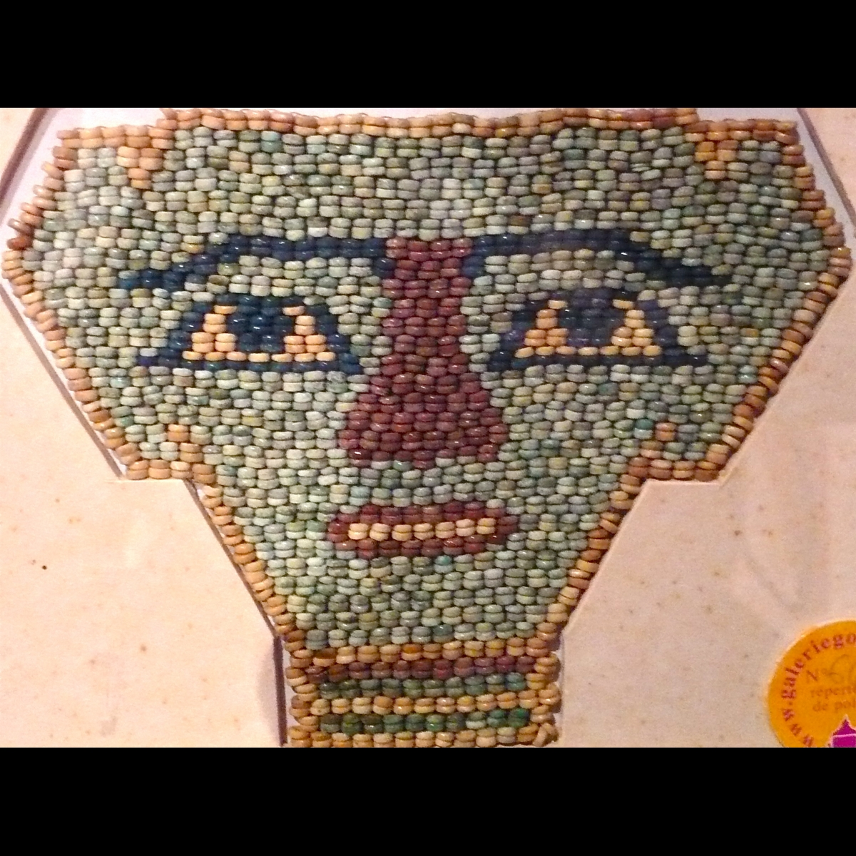 Photo of EGYPTIAN MUMMY MASK IN FAIENCE BEADS