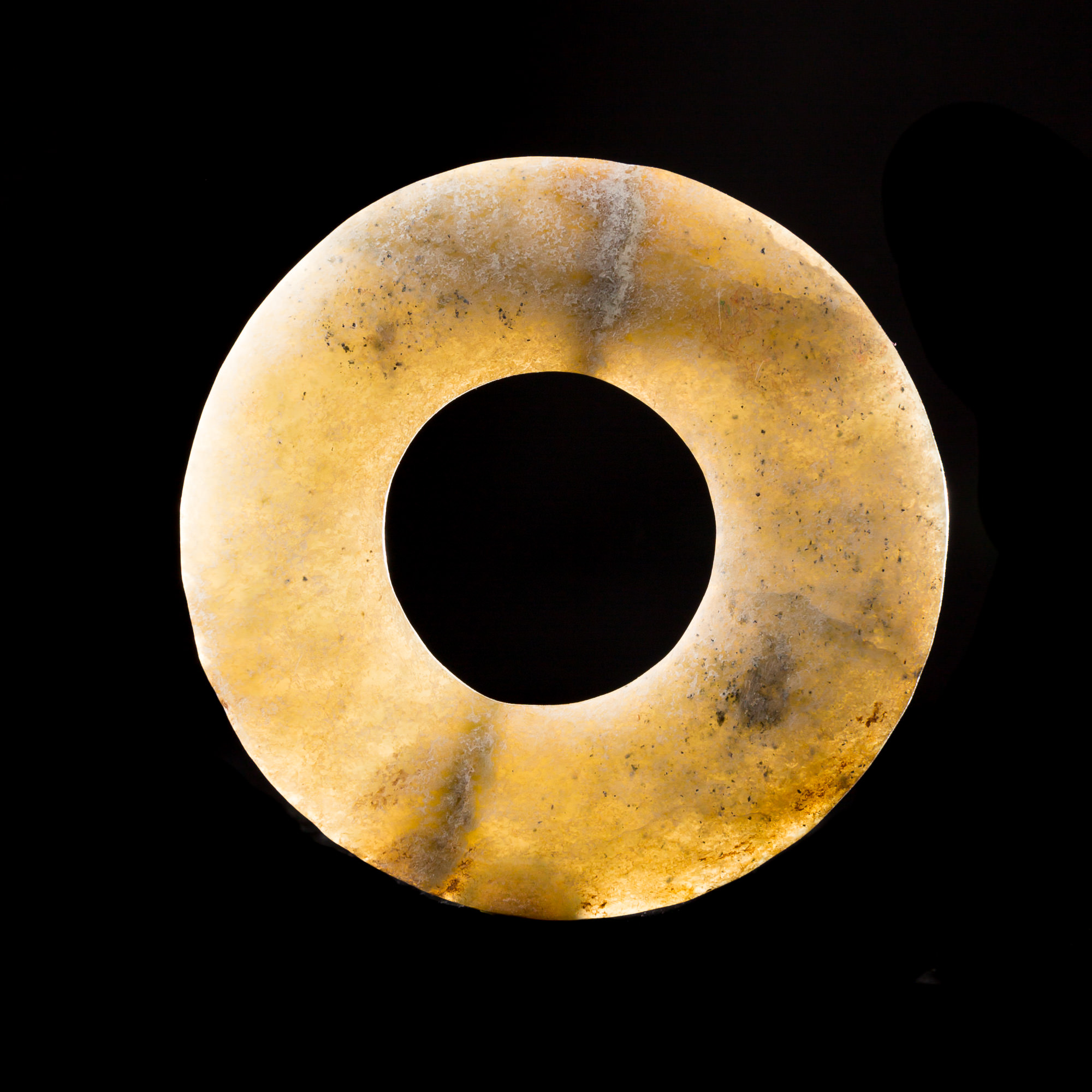 Photo of NEOLITHIC CHINESE 'BI' DISC IN TRANSLUCIDE JADE