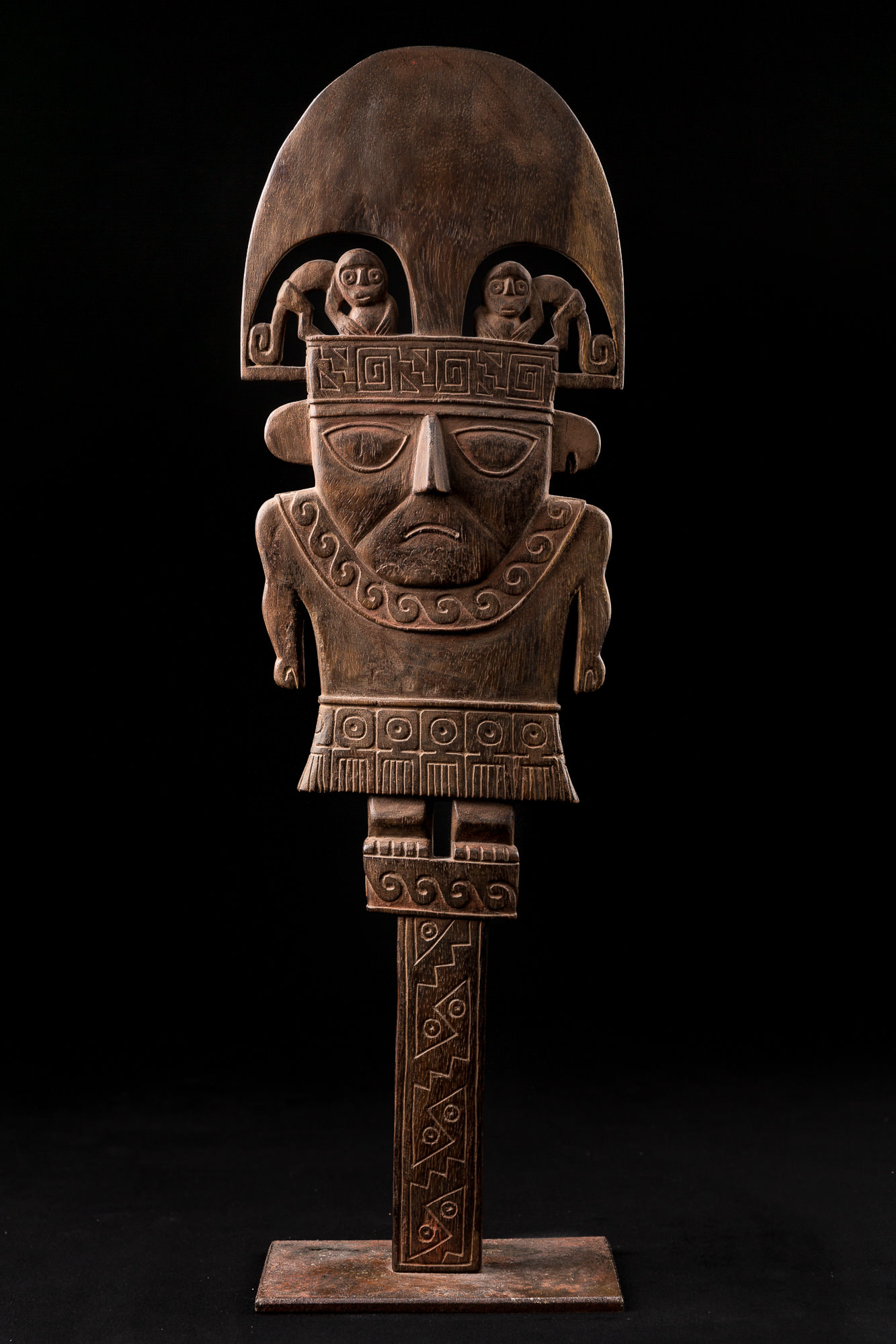 Photo of peru-chimu-ceremonial-mirror-wood-naymlap-perou-culture-chimu-miroir-ceremoniel-bois