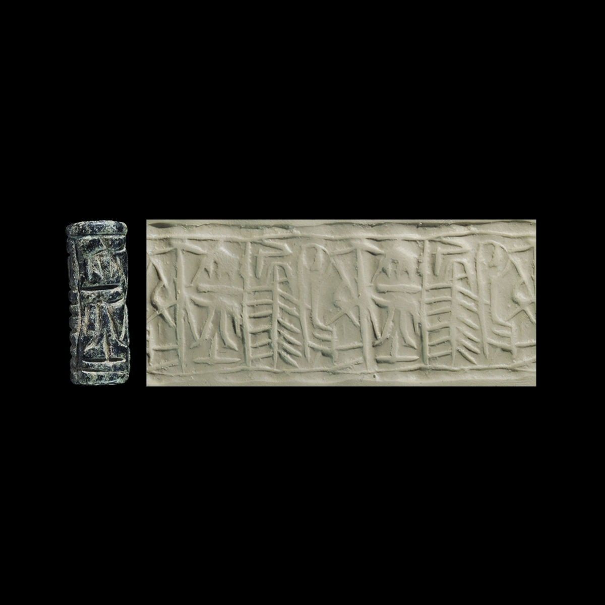 Photo of cylinder-seal-representing-trees-2