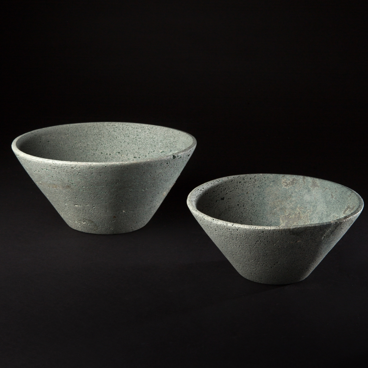 Photo of very-rare-pair-of-basalt-bowls