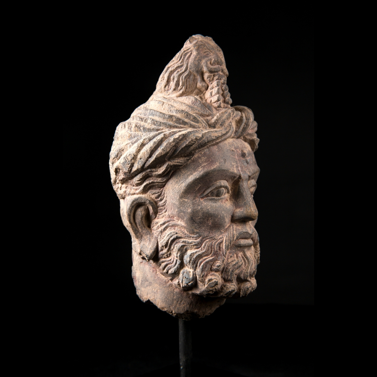 Photo of GANDHARA RARE HEAD OF A MAN WITH LION