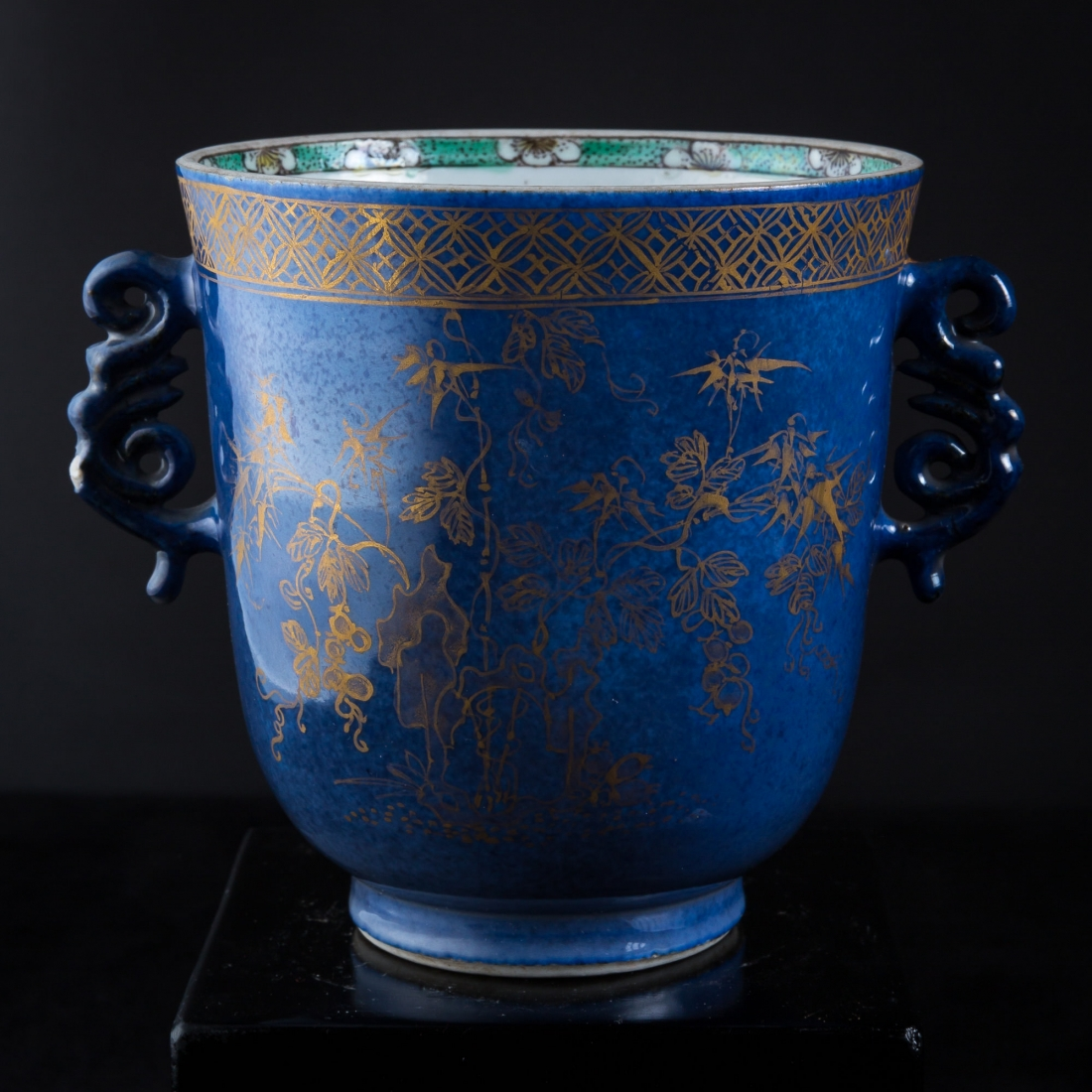 Photo of KANGZI BLUE AND GOLD CHALICE FROM METROPLITAN MUSEUM