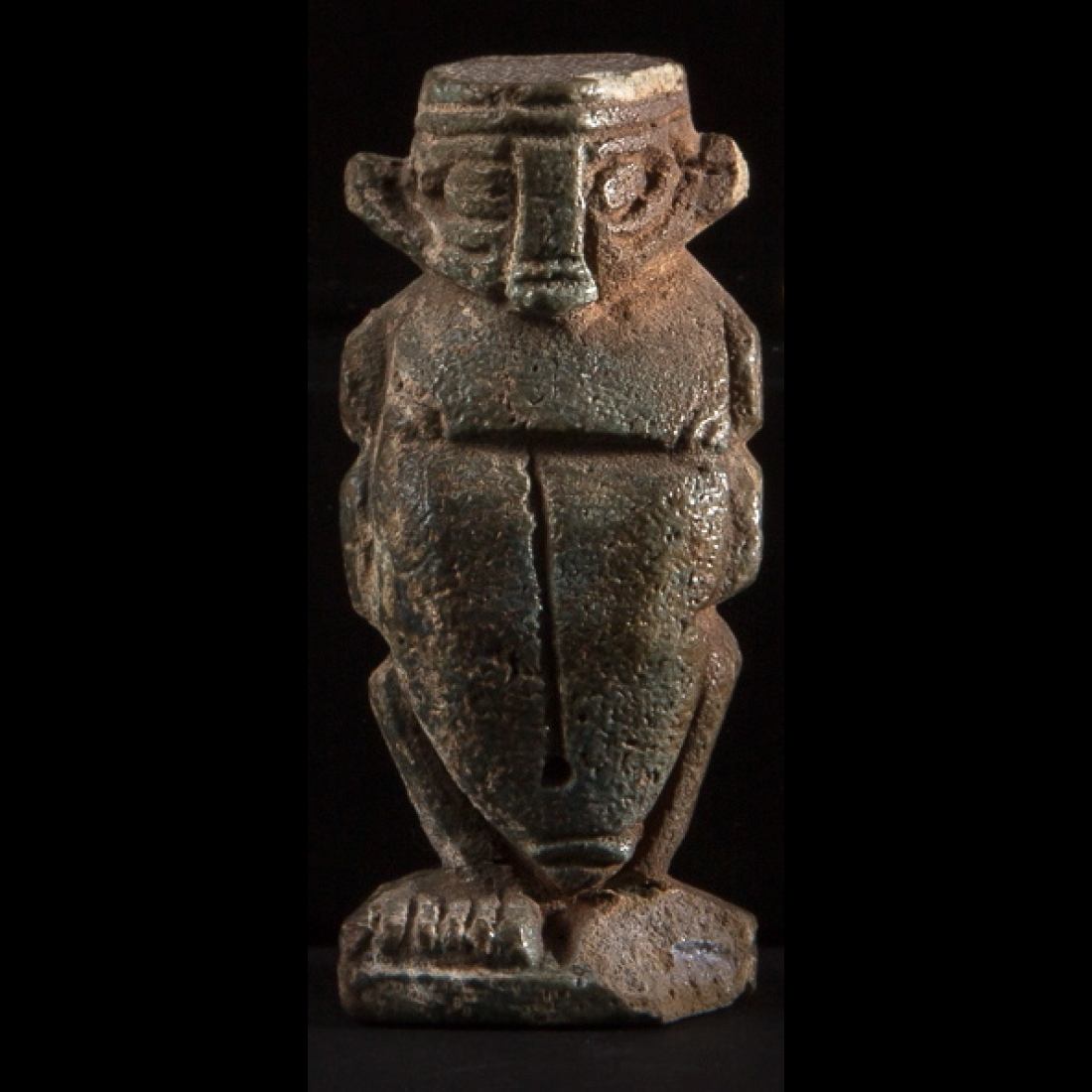 Photo of egypt-late-period-ptah-patek-amulet-frit-beetle-pataikos-egypte-basse-epoque-amulette-ptah-pateque-fritte