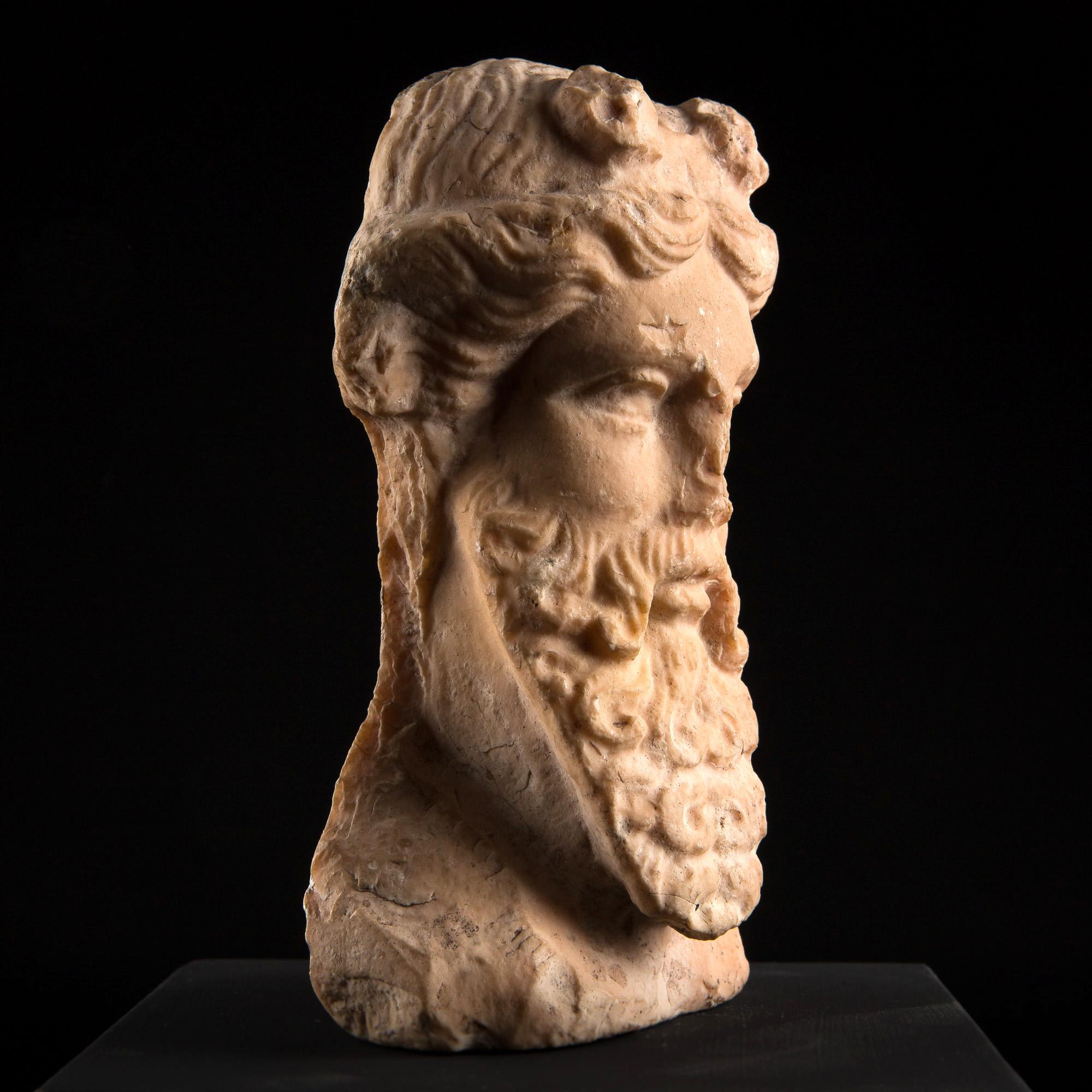 Photo of pink-marble-herm-head-of-dionysus-antiquities
