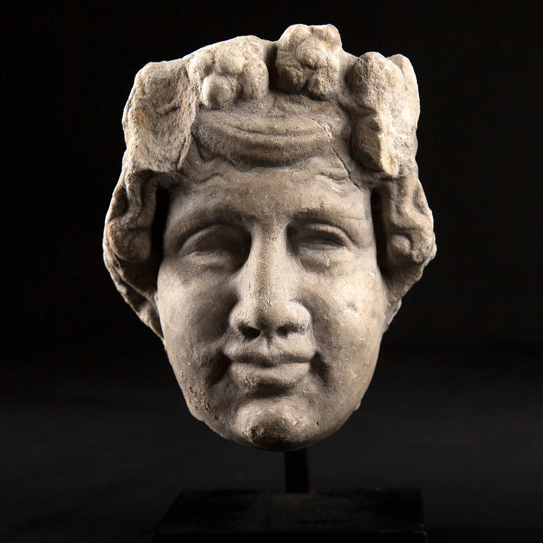 Photo ofROMAN MARBLE HEAD OF DIONYSUS