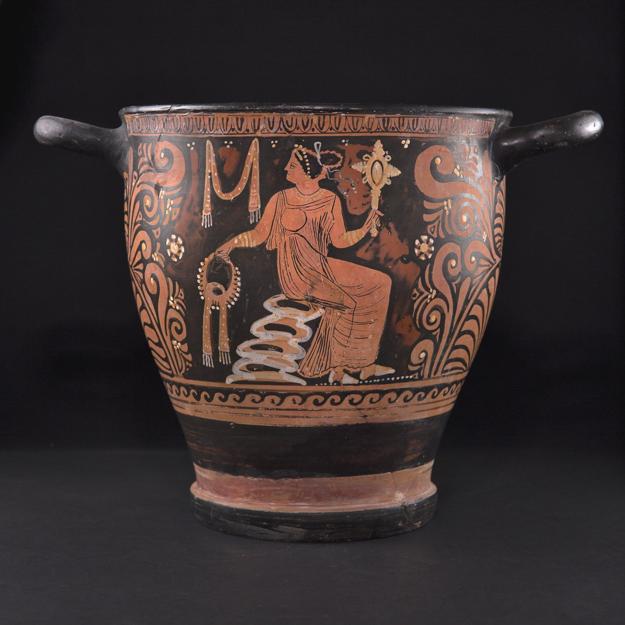Photo of skyphos-red-on-black-painted-apulia-museum-quality