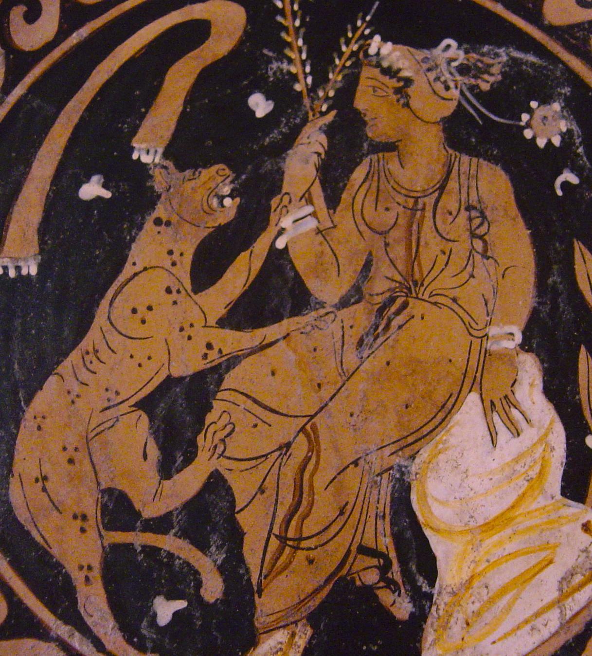 Photo of plate-apulia-magna-grecia-redweare-with-cat